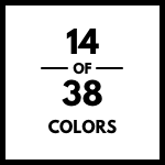14 of 38 colors